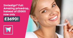 Invisalign Full®: Amazing pricedrop, instead of £5000 now only £3690!