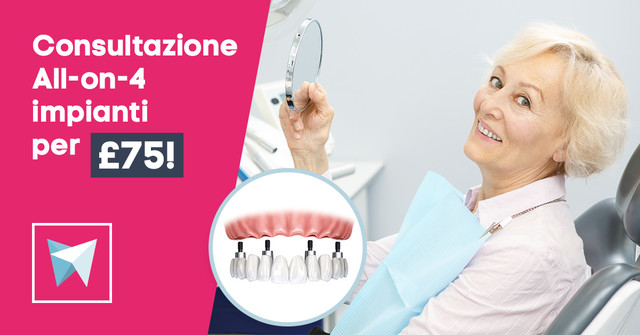 Consultazione All-on-4® (Same-day teeth) impianti per £75!