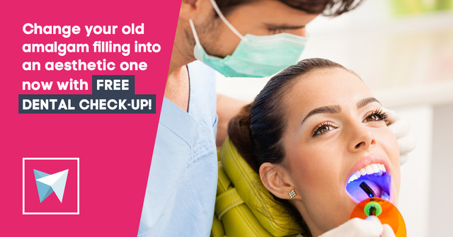 Change your old amalgam filling into an aesthetic one now with FREE dental check-up!