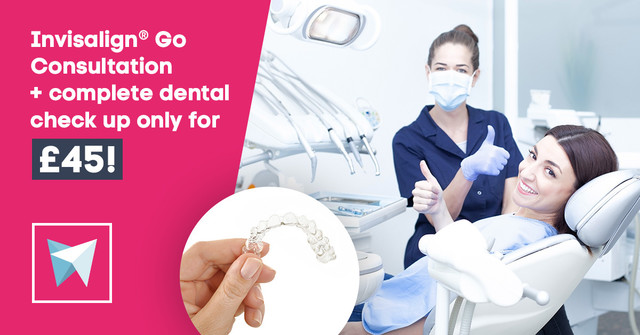 Invisalign Go Consultation + complete dental check up for £45!