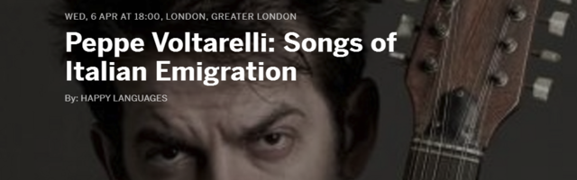 Peppe Voltarelli: Songs of Italian Emigration