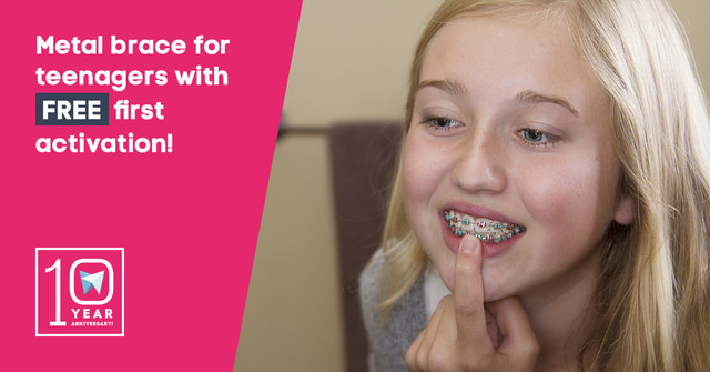 Metal braces for teenagers + the first activation is free!