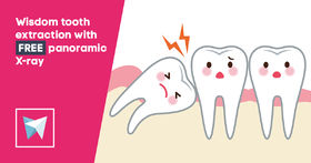 Wisdom tooth extraction with free panoramic X-ray